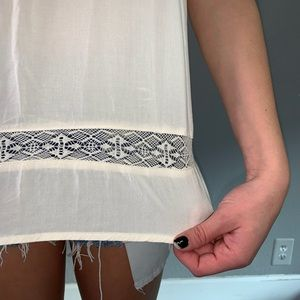 American Eagle Outfitters Tops - White embroidery tank